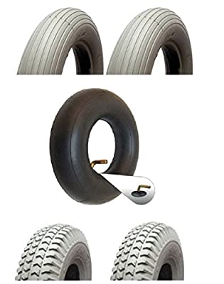 Mobility Scooter Tyre and Tube Set - Pack of 2 Rear Tyres and 2 Inner Tubes- 300-4/260x85