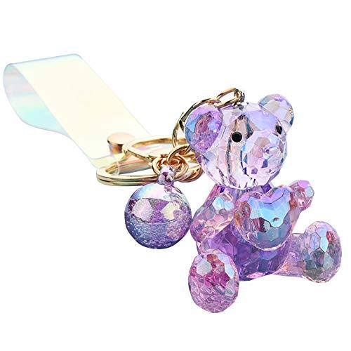 Asdf586io Cute and Charm Keychains, Stylish Bear Shapes Acrylic Girls for Bag Wallet Decor, Girls Gifts - Purple