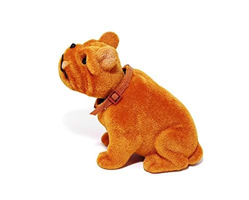 Batty Bargains Grumpy Bobblehead Bull Dog with Car Dashboard Adhesive