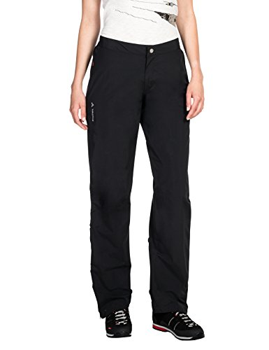VAUDE Damen Yaras Rain Pants II Hose,schwarz,34 EU (Herstellergröße:XXS)