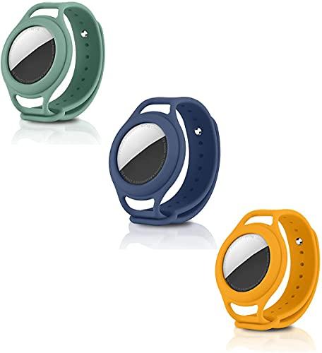 Airtags-hoes siliconen met horlogeband, siliconen anti-verloren hoes voor kinderen, voor Apple Airtag-locatietrackerhouder, gemakkelijk te vinden (K)
