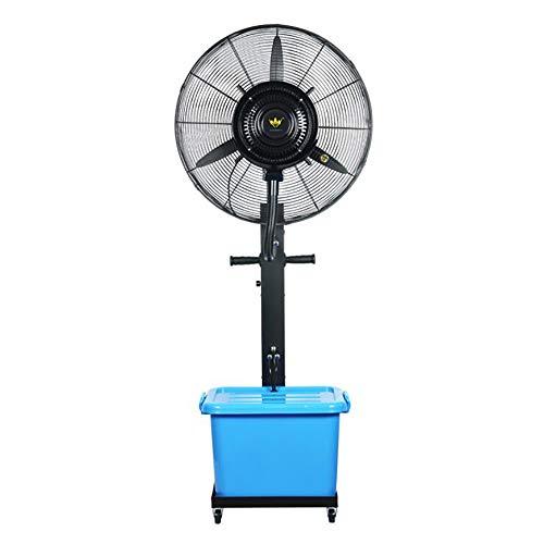 "Spray-Kühlungs-industrielles Ventilator-Boden-Wasser-Nebel-Ventilator-Spray-Ventilator-Luftkühler-Luftkühlungs-Ventilator-Luftbefeuchter (Farbe : Blau, größe : 26\"" Fan Blade Diameter 65cm)"
