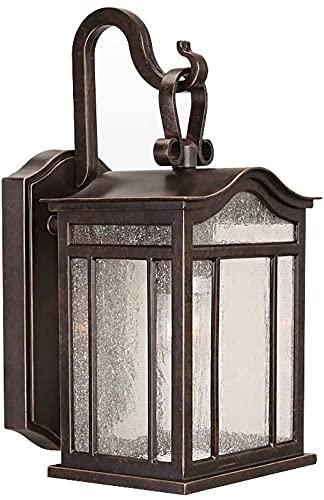 Lámpara de pared a prueba de polvo a prueba de agu Luz de pared vintage, E27 Luces al aire libre al aire libre Luces de jardín a prueba de agua Linterna de pared colgante clásica exterior Iluminación