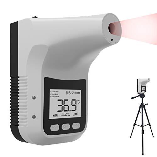 K3 PRO - Kontaktloses Fieberthermometer mit Photosensitivem Distanz-Sensor zur Wandmontage - Berührungsloses Profi-Thermometer für Eingangskontrolle - Stirn-Thermometer