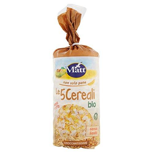 Matt Le 5 Cereali Bio Gallette ai 5 Cereali senza Glutine, 120g