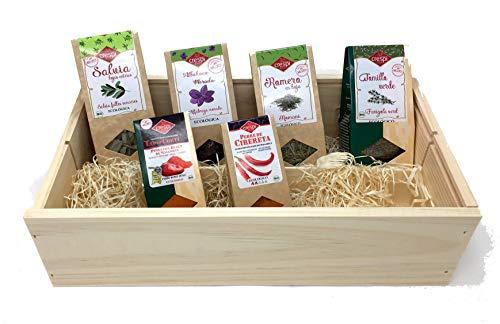 Mallorca Kräuterbox Mediterran, Mallorquinischer Pimenton, Geschenkset, Kräuterküche, Präsenkorb