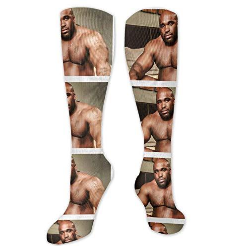 Barry Wood Meme Well Endowed Man Black Guy Dick Meme Unisex Compression Socks Knee-High Trouser Socks Long Tube Stockings