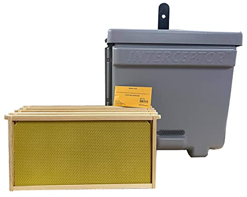 Honeybee Swarm Trap-THE INTERCEPTOR PRO Complete Kit ASSEMBLED With Frames, Foundation, Lure & REAL...