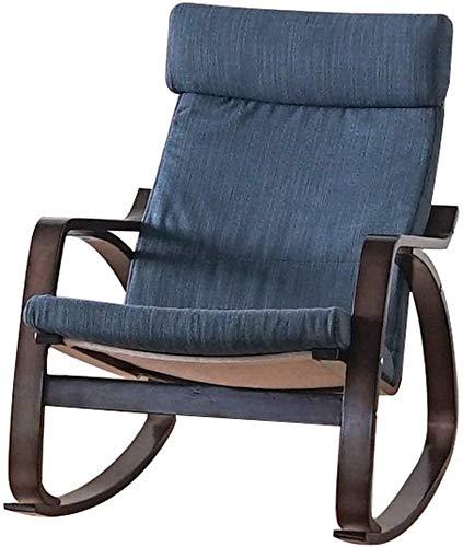 Sillón reclinable al Aire Libre Jardín sillón, Silla Moderna de Tela Decorativa, cojín de Gran tamaño XL reclinable Ajustable, con el Apoyo del reposacabezas (Color : I, Size : Log Color Frame)
