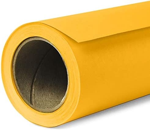 Savage Seamless Paper Photography Backdrop - #71 Deep Yellow (53 in x 18 ft) Made in USA