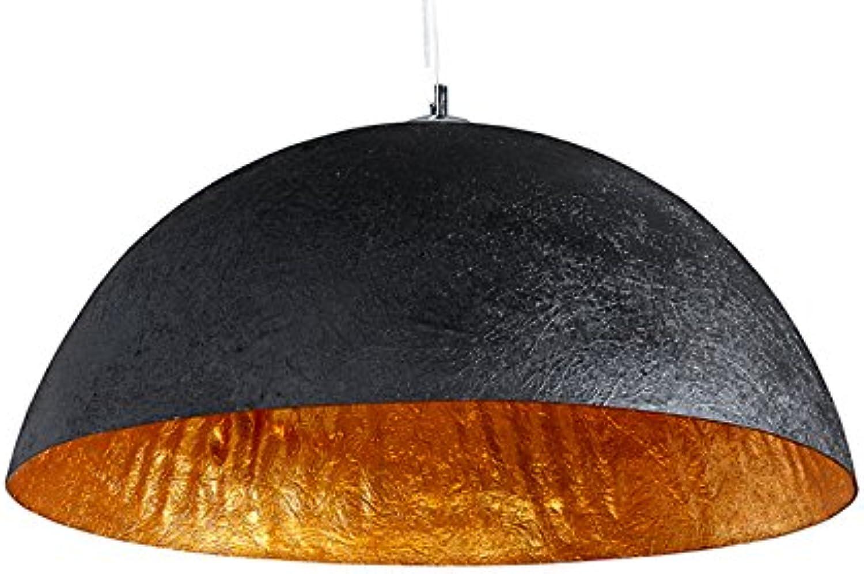 Stylische Hngeleuchte GLOW schwarz Gold 50cm
