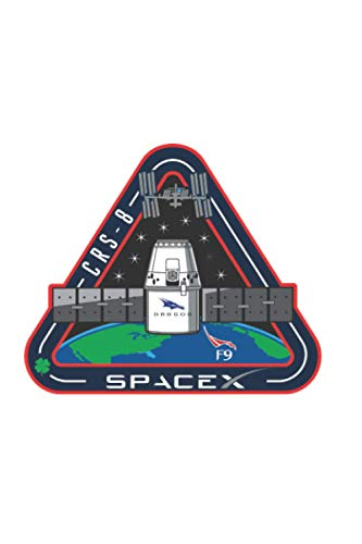 CRS-8 - SPACEX FALCON 9 DRAGON F-9 ISS NASA RESUPPLY mission notebook: Nice Notebook journal gift, blank lined Notebook 120 pages Size 6*9