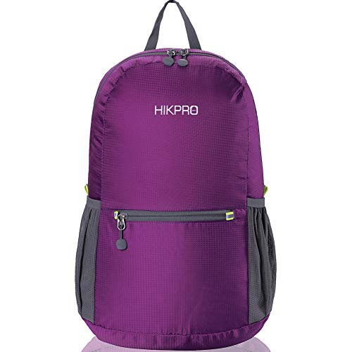 HIKPRO 20L - The Most Durable Lightweight Packable Backpack, Water Resistant Travel Hiking Daypack...