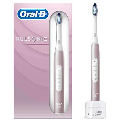 Oral-B Pulsonic Slim Luxe 4000 Sonic - Cepillo de Dientes Electrónico Rosa Oro, con Temporizador, 1 Cabezal de Recambio