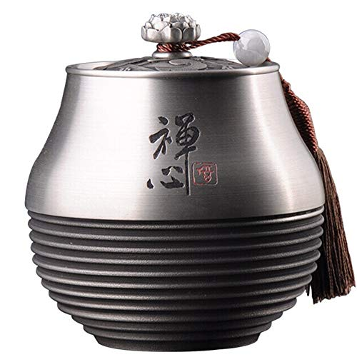 Best Prices! Tea Container Sealed Tea Storage Tank Pewter Retro Tea Tin Decorative Tea Container Tea...