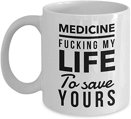 Rael Esthe Regalos divertidos del estudiante de medicina, taza divertida de la medicina, regalo de la graduación del doctor