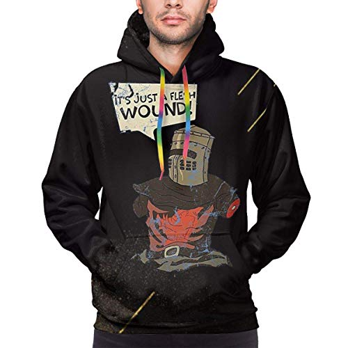 IUBBKI It 's Just A Flesh Wound Sudadera con Capucha para Hombre Art 3D Print Camiseta de Manga Larga