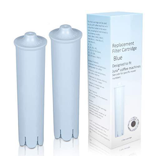 Fiitas Wasserfilter für Jura Claris Blue, Filter für Jura Automatic Espresso Kaffeemaschine, kompatibel mit ENA IMPRESSA Serie (2er Pack)
