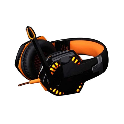 Erosr Gaming-Headset mit Surround-Sound-Stereo, PS4-Headset mit Noise Cancelling-Mikrofon, Kompatibel mit PC PS4 Xbox One-Controller (Adapter erforderlich), Nintendo-Switch (Farbe : Orange)