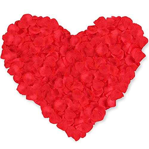 Neo LOONS 1000 Pcs Artificial Silk Rose Petals Decoration Wedding Party Color Red