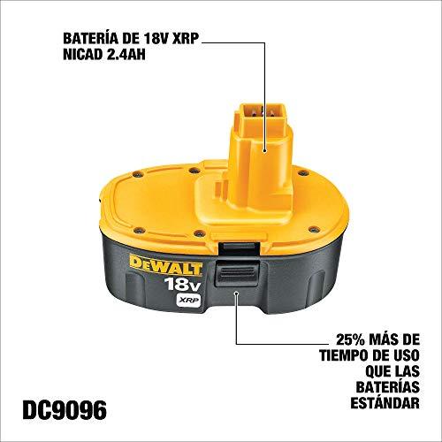 DEWALT 18V Battery, NiCd Pod Style, 2.4-Ah (DC9096)
