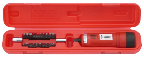 Famex 10896 momentsleutel-schroevendraaier, meetbereik 1-8 Nm, meting in beide draairichtingen, 6,3 mm (1/4 inch) -aandrijving