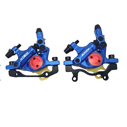 NYK Zoom, pinza freno a disco idraulico per mountain bike anteriore e posteriore (blu)
