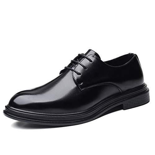 Zapatos casuales Zapatos de vestir planos para hombres, tacones de costura de encaje de tres ojos, tacones altos, cuero sintético y suela de goma Oxford zapatos de vestir