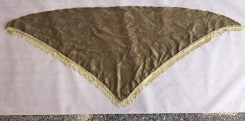 Passigatti Modisches Tuch, 3-eck, ca.120x60 cm 100% Polyester, mit oder ohne Fransen, kaki, mit Fransen