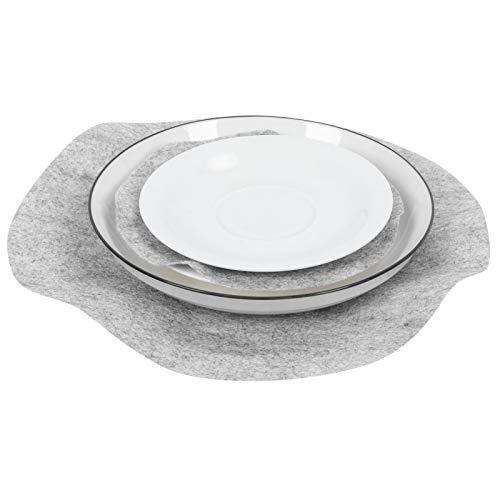 Almohadillas para sartenes de fieltro, Almohadillas para separadores de sartenes, Utensilios de cocina suaves y ecológicos, Separador de platos de fieltro, Fácil de(gray, 48PCS)