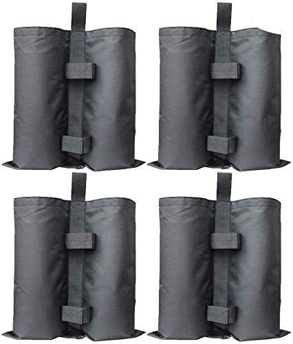 DBG 4er-Pack Pavillon Sandsäcke Industriequalität Hochleistungs-Doppelgenähte Sand Tasche, Beingewichte für Pop-Up-Baldachin-Zelt Gewichtete Füße Tasche