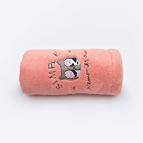 Mdsfe Toalla de baño para Mujer Toalla de Microfibra Toalla de baño de Secado rápido para Adultos Toalla de baño - Gato Rosa Rojo, 25x65cm, a5