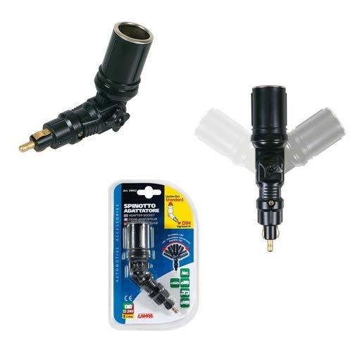 para BMW f 650GS Dakar 2000–2006Toma Encendedor de Clavija Adaptador 39052lampa Mini Conector articulado 120° 190x 115x 40mm