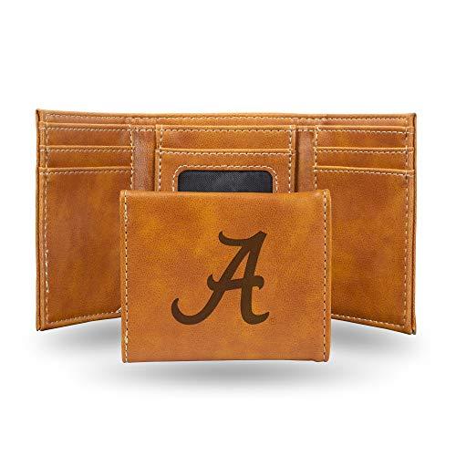 NCAA Rico Industries  Laser Engraved Trifold Wallet, Alabama Crimson Tide