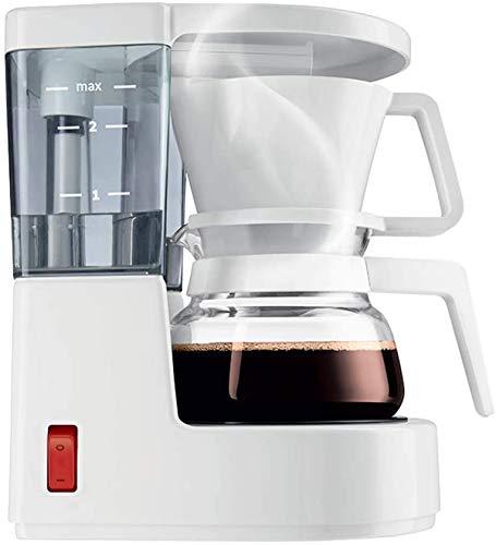 Kleiner Haushalt Kaffeemaschine, tropfsicheres Design, abnehmbare Filter und Heizplatte, 40 Minuten warm, 0,35 Liter amerikanische Hand Kaffeemaschine Wasseraufbereiter dljyy (Color : White)