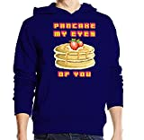 Sconosciuto Pancake My Eyes of You Strawberry Pixel Art Maglione con Cappuccio Unisex X-Large