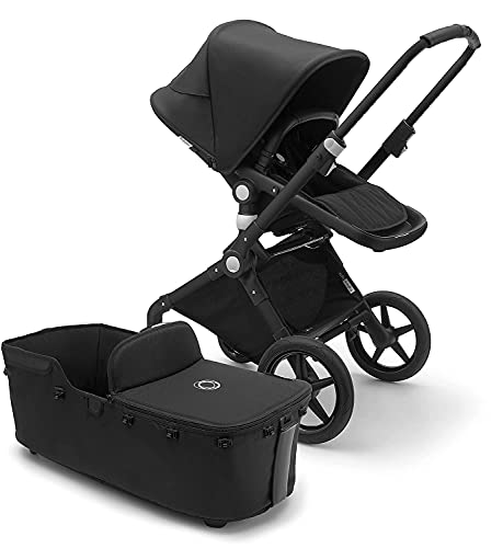 Bugaboo Lynx Pushchair - Lightweight, Compact Foldable Stroller for Newborns and Toddlers, with Front Suspension, one-Hand fold, self-Stand, Sun Canopy, in Black