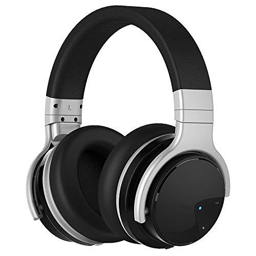 DSAX Bluetooth koptelefoon Active Noise Cancelling hoofdtelefoon Wireless Headset 30 uur over het oor, met microfoon Deep bass for iOS (Color : Black)