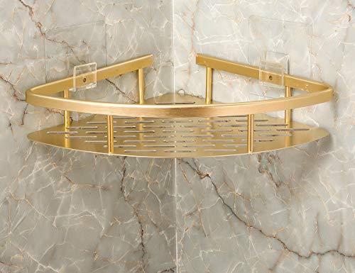 Great Features Of BEARSTAR 1 Tier No Drilling Bathroom Corner Shelves Adhesive Corner Bathroom Shelf...