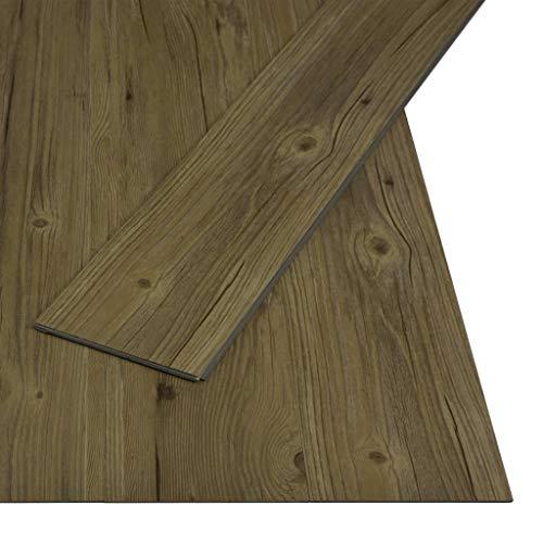 vidaXL PVC Klick Dielen Bodenbelag Rutschfest Vinylboden Vinyl Boden Bodenbelag Fußboden Designboden Dielenboden Landhausdiele 3,51m² 4mm Braun