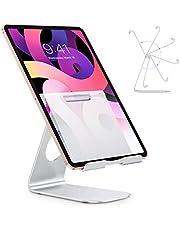 OMOTON Soporte para Tablet iPad Máximo 12 Pulgadas [Multi-Ángulo de Aluminio] - Plata