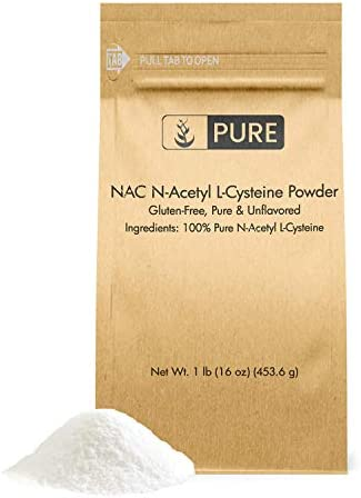 Pure NAC N Acetyl L Cysteine 1 lb Naturally Sourced Potent Gluten Free Eco Friendly Packaging product image