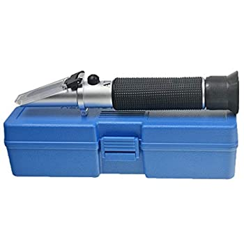 Aquarium Salinity Refractometer with ATC Function,Saltwater Test Kit for Seawater Pool Aquarium Fish Tank.Dual Scale  Specific Gravity & Salt Percent