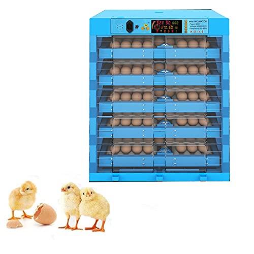 TANGIST Technics Incubato Incubadora de 320 Huevos con Control Automático de Temperatura Y Humedad Iluminación LED de Alta Eficiencia Patos, Gansos, Codornices, Uso Doméstico, Etc