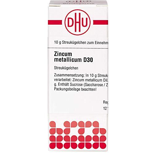 DHU Zincum metallicum D30 Streukügelchen, 10 g Globuli