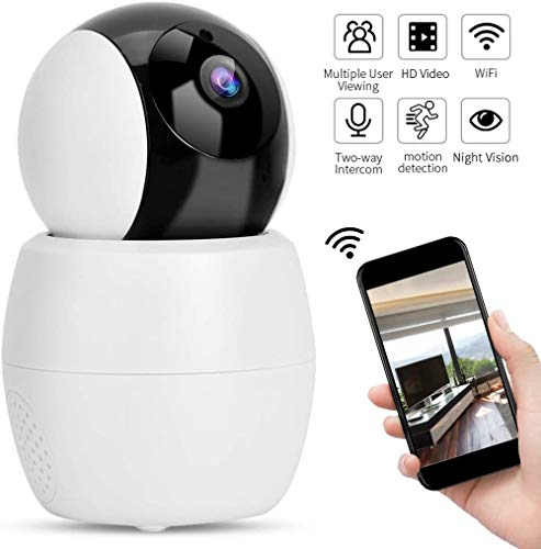 Home Security Camera Draadloze HD 1080P Camera, Dome Remote Babyfoon WiFi HD Security Camera Dubbele babyfoon met nachtzicht Bidirectionele audio voor thuiskantoor Nanny Monitor