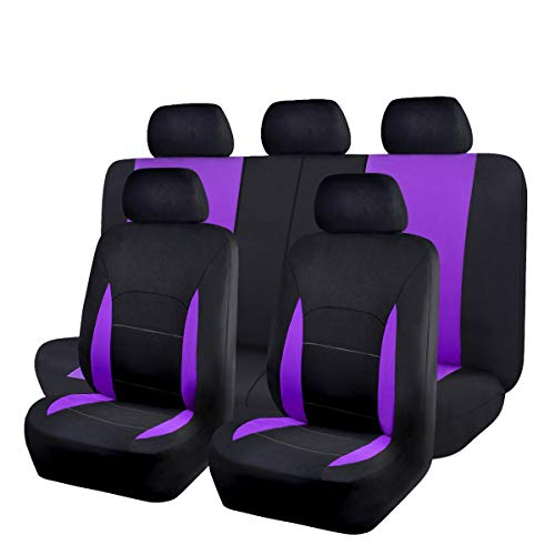 Flying Banner Car Seat Covers 9 PCS Front Seats and Rear Bench Polyester Cover...