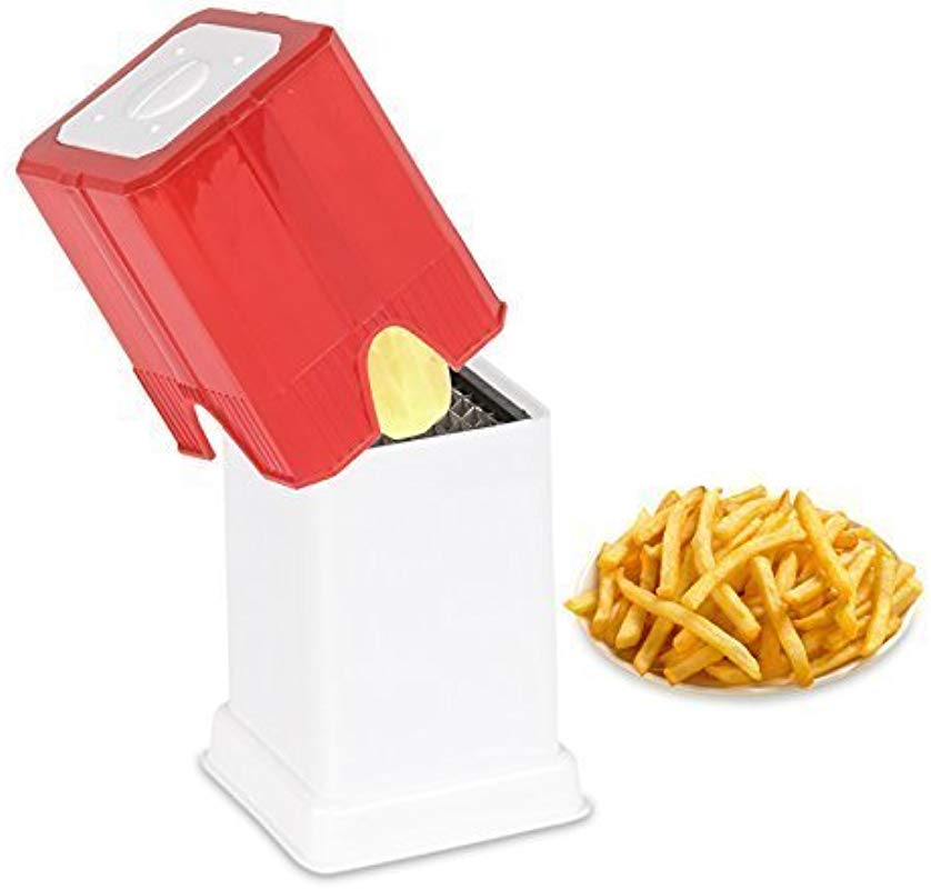 TMT Potato French Fries Cutter Plastic Grater Slicer Potato Crispy Fries Maker Slicer Multi Function Potato Chipper Potato Veggie Chopper