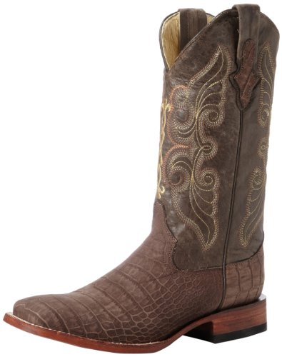 Ferrini Men's Print Suede Alligator S-Toe Western Boot,Taupe,10.5 D US