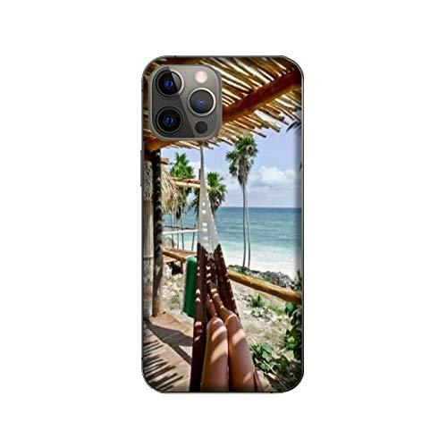 Funda iPhone 12 Pro Max Carcasa Apple iPhone 12 Pro Max playa Hamaca relajarse / Cubierta en TPU y vidrio / Cover Antideslizante Antideslizante Antiarañazos Resistente a golpes Protectora Rígida